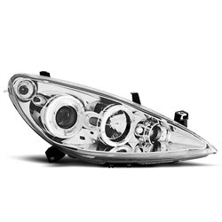 Fari Angel Eyes Peugeot 307 01-05 Chrome