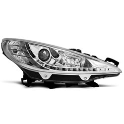 Fari Led stile luce diurna Peugeot 207 06-09 Chrome