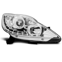 Fari Led stile luce diurna Peugeot 107 05-11 Chrome