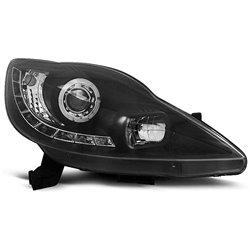 Fari Led stile luce diurna Peugeot 107 05-11 Neri