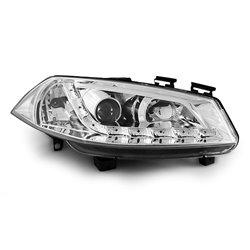 Fari Led stile luce diurna Renault Megane II 02-05 Chrome