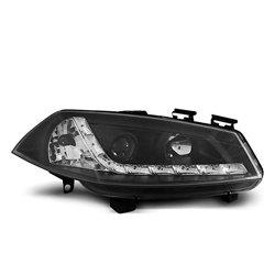 Fari Led stile luce diurna Renault Megane II 02-05 Neri
