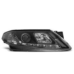 Fari Led stile luce diurna Renault Laguna II 01-05 Neri