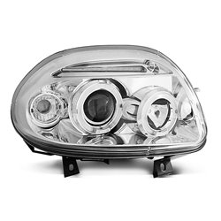 Fari Angel Eyes Renault Clio 98-01 Chrome