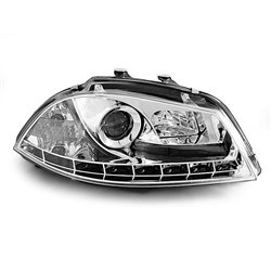 Fari Led stile luce diurna Seat Ibiza 6L 02-08 Chrome