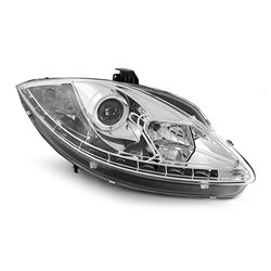 Fari Led stile luce diurna Seat Leon 05-09 - Altea 05-09 Chrome