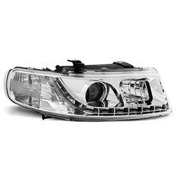 Fari Led stile luce diurna Seat Leon / Toledo 99-04 Chrome