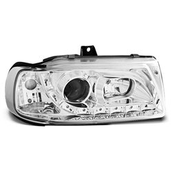 Fari Led stile luce diurna Seat Ibiza / Cordoba / Polo 6N 93-99 Chrome