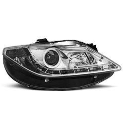 Fari Led stile luce diurna Seat Ibiza 6J 08- Chrome