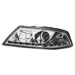 Fari Led stile luce diurna Skoda Octavia II 04-08 Chrome