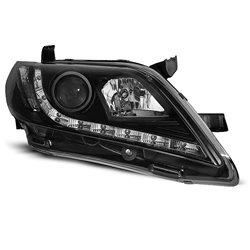 Coppia di fari a Led stile luce diurna Toyota Camry 6 XV40 06-09 Neri