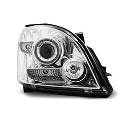Fari Angel Eyes CCFL Toyota Land Cruiser 120 03-09 Chrome