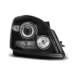 Fari Angel Eyes CCFL Toyota Land Cruiser 120 03-09 Neri