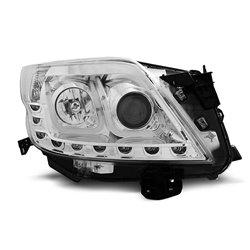 Fari Led stile luce diurna con tubo fibra ottica Toyota Land Cruiser 150 09- Chrome