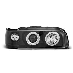 Coppia di fari Angel Eyes Volvo 850 92-96 Neri