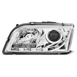 Coppia di fari a Led stile luce diurna Volvo S40 / V40 96-03 Chrome