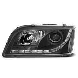 Coppia di fari a Led stile luce diurna Volvo S40 / V40 96-03 Neri