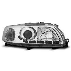 Coppia di fari DRL vera luce diurna Volvo S60-V70 00-04 Chrome