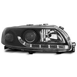 Coppia di fari DRL vera luce diurna Volvo S60-V70 00-04 Neri