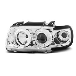 Fari Angel Eyes Volkswagen Polo 6N 94-99 Chrome