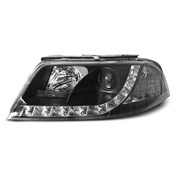 Coppia di fari a Led stile luce diurna Volkswagen Passat 3BG 00-05 Neri