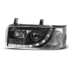 Coppia di fari a Led stile luce diurna Volkswagen T4 90-03 Neri