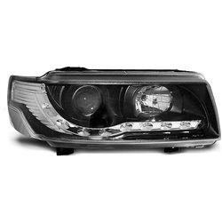Coppia di fari a Led stile luce diurna Volkswagen Passat B4 93-97 Neri
