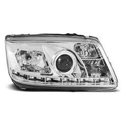 Coppia di fari a Led stile luce diurna Volkswagen Bora 98-05 Chrome