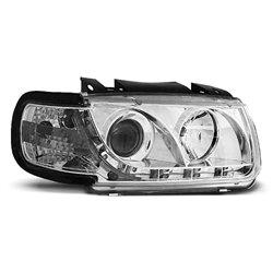Coppia di fari a Led vera luce diurna Volkswagen Polo 6N 94-99 Chrome