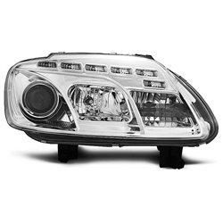Coppia di fari a Led stile luce diurna Volkswagen Touran / Caddy 03-06 Chrome