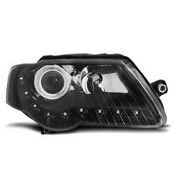Coppia di fari a Led stile luce diurna Volkswagen Passat B6 3C 05-10 Neri
