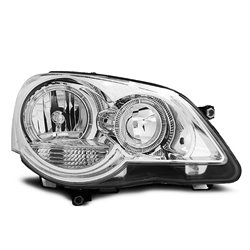 Fari Angel Eyes Volkswagen Polo 9N3 05-09 Chrome
