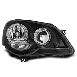 Fari Angel Eyes Volkswagen Polo 9N3 05-09 Neri