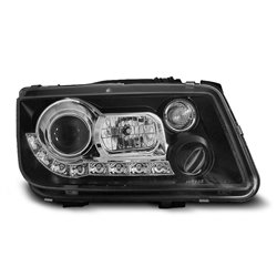 Coppia di fari a Led stile luce diurna Volkswagen Bora 98-05 Neri
