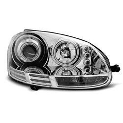 Fari Angel Eyes CCFL Volkswagen Golf V 03-08 Chrome