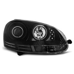 Fari Angel Eyes CCFL Volkswagen Golf V 03-08 Neri