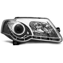 Coppia di fari DRL vera luce diurna Volkswagen Passat B6 3C 05-10 Chrome