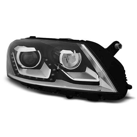 Coppia di fari a Led stile luce diurna Volkswagen Passat B7 10-14 Neri