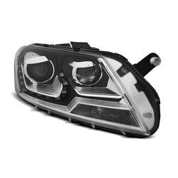 Fari Led stile luce diurna Volkswagen Passat B7 10-14 Neri