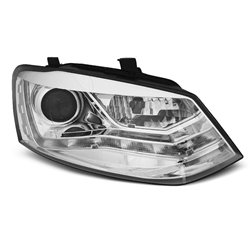 Fari Led stile luce diurna Volkswagen Polo 6R 09-14 Chrome