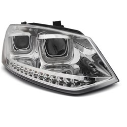 Fari Led U-type Volkswagen Polo 6R 09-14 Chrome
