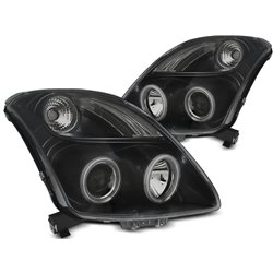 Fari Angel Eyes e LED CCFL per Suzuki Swift 05-10 Neri