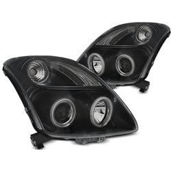Fari Angel Eyes e LED CCFL per Suzuki Swift 05-10 Neri
