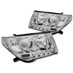 Fari Angel Eyes Toyota Land Cruiser FJ200 07-12 Chrome