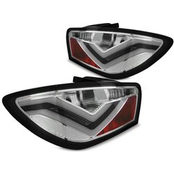 Coppia fari LED BAR posteriori Seat Ibiza 6J 08-12 Chrome