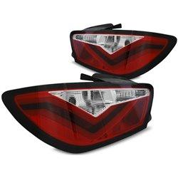 Coppia fari LED BAR posteriori Seat Ibiza 6J 08-12 Rossi e Bianchi