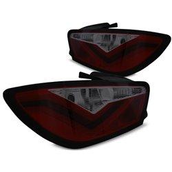Coppia fari LED BAR posteriori Seat Ibiza 6J 08-12 Rossi Fume