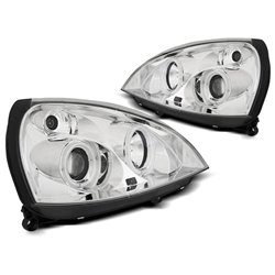 Fari Angel Eyes CCFL Renault Clio 01-05 Chrome
