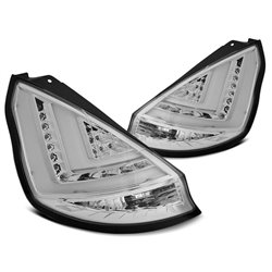 Coppia fari Led Bar posteriori Ford Fiesta 08-12 Chrome