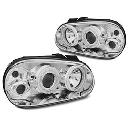 Fari CCFL Angel Eyes Volkswagen Golf IV 97-03 Chrome
